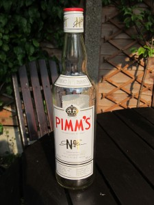 That empty Pimm's bottle: clear evidence of a successful day