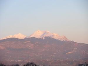 Sunrise over Monte Amaro