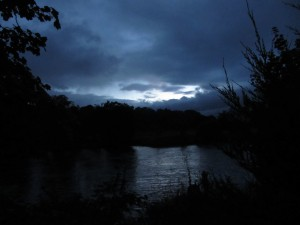 Twilight on the River Ken: one of Galloway's great fishing rivers