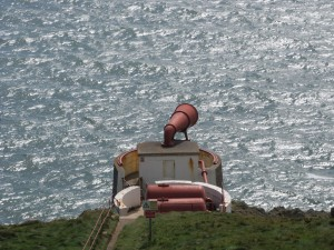 The foghorn at Carrickcarlin Point, Mull of Galloway