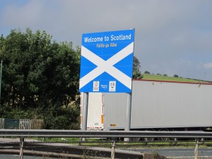 The saltire on the other