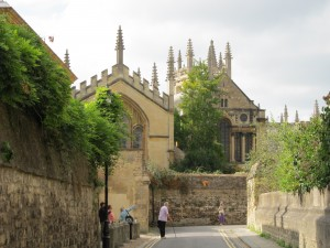 The characteristic honey-coloured Cotswold stone of Oxford