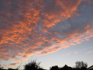 A glorious autumn sunset: but catch it quick before the light goes