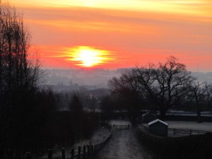 Winter sunrises are often spectacular