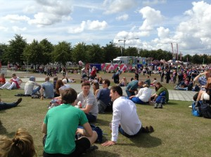 A sunny afternoon on Glasgow Green: Olympic silver medallist Michael Jamieson is in foreground