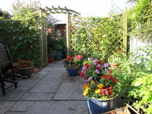 An English country garden