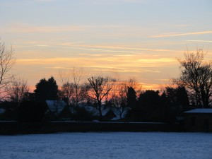 2014's suitably snowy final sunset