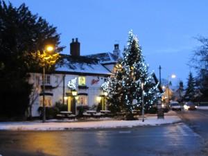 The snow clad village pub