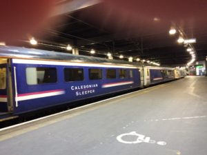 The Caledonian Sleeper arrives at Euston