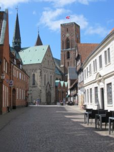 The medieval streets around Ribe Cathedral