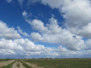 Surround skies and pancake-flat terrain