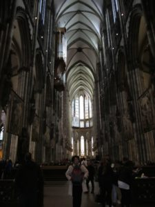 The awesome interior of Cologne Cathedral