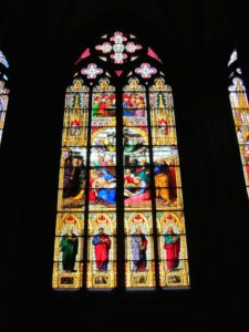 Spectacular stained glass inside the cathedral