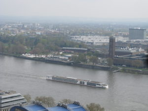The Rhine from the top of Cologne Cathedral