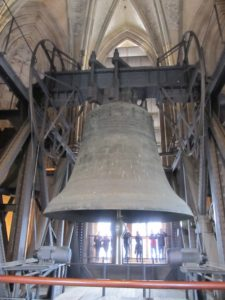 One of the massive cathedral bells