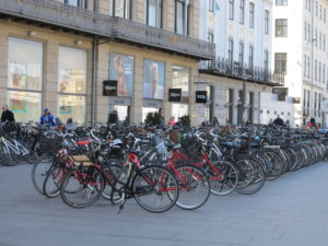 Always room to squeeze in another bike in Copenhagen