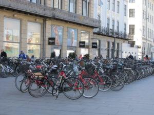 Always room to squeeze in another bike in Copenhagen