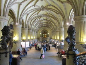 The spectacular interior of the Rathaus