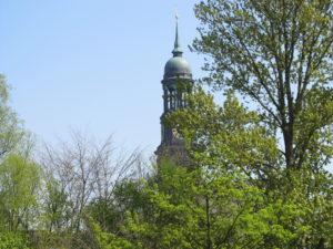 Bismarck Memorial from Elbe park