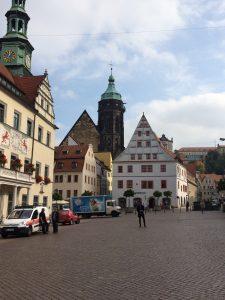 Canaletto's favourite square: Pirna