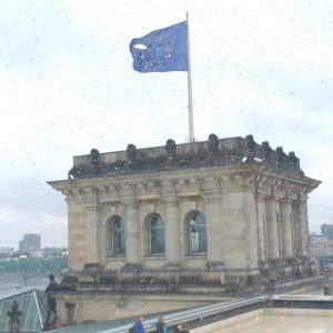 Good to see the EU flag flying proudly despite the rain