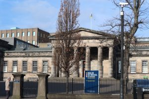 The Doric pillars of Dundee High School date from 1832